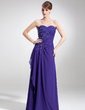 A-Line/Princess Sweetheart Floor-Length Chiffon Lace Mother of the Bride Dress With Ruffle Beading Sequins (008006091)