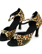 Women's Satin Heels Sandals Latin Dance Shoes (053013187)