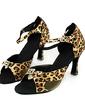 Kadın Saten Topuk Sandalet Latin Dans Ayakkabıları (053013187)