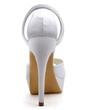 Women's Satin Stiletto Heel Pumps Sandals With Rhinestone (047039713)