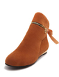 Suede Flat Heel Ankle Boots Snow Boots With Zipper shoes (088055018)
