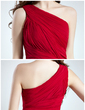 Sheath/Column One-Shoulder Short/Mini Chiffon Cocktail Dress With Ruffle (016008800)
