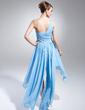 Linia A/Księżniczka Jednoramienna Asymetryczna Chiffon Sukienka na Bal Maturalny Z Perełki (018015019)