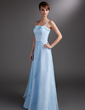A-Line/Princess Floor-Length Satin Bridesmaid Dress With Beading (007016762)