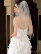 Two-tier Elbow Bridal Veils With Pencil Edge (006034325)