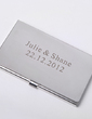 Personalized Simple Design Stainless Steel Card Case (Set of 4) (051029038)