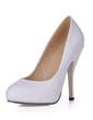 Women's Leatherette Stiletto Heel Closed Toe Platform Pumps (047017003)