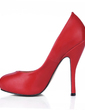 Leatherette Stiletto Heel Pumps Platform Closed Toe shoes (085017002)