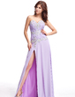 A-Line/Princess Sweetheart Floor-Length Chiffon Evening Dress With Ruffle Beading Appliques Lace Split Front (017022820)