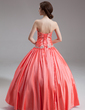 Ball-Gown Sweetheart Floor-Length Taffeta Quinceanera Dress With Beading (021020792)