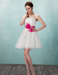 Linia A/Księżniczka Kochanie Krótka/Mini Organza Sukienka na Zjazd Absolwentów (022010102)