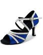 Kadın Saten Köpüklü Glitter Topuk Latin Dans Ayakkabıları (053013164)