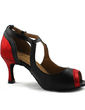 Women's Leatherette Heels Latin With Buckle Dance Shoes (053043308)