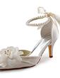 Kadın Satin İnce Topuk Kapalı Toe Pompalar Ile İmitasyon İnci (047005172)