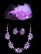 Flower Shaped Alloy/Rhinestones Ladies' Jewelry Sets (011028484)