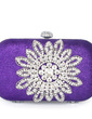 Elegant Silk With Glitter/Rhinestone Clutches (012033910)