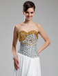 A-Line/Princess Sweetheart Floor-Length Chiffon Prom Dress With Beading Sequins Split Front (018019121)