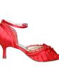 Women's Satin Stiletto Heel Peep Toe Pumps Sandals With Bowknot (047057121)