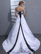 Balo Elbisesi Kalp Kesimli Şapel Kuyruk Satin Gelinlik (002001949)