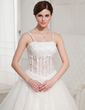 Ball-Gown Floor-Length Tulle Wedding Dress With Lace Beading (002000409)