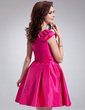 A-Line/Princess One-Shoulder Short/Mini Taffeta Homecoming Dress With Ruffle (022010612)