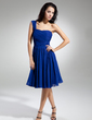 A-Line/Princess One-Shoulder Knee-Length Chiffon Homecoming Dress With Ruffle (022014932)