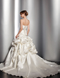 Ball-Gown Sweetheart Chapel Train Satin Wedding Dress With Ruffle Beading Sequins (002012631)