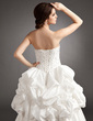Ball-Gown Sweetheart Floor-Length Taffeta Wedding Dress With Ruffle Beading (002016372)