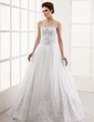 Ball-Gown Strapless Floor-Length Organza Wedding Dress With Embroidered Beading Sequins (002012220)