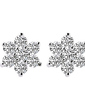 Snowflakes Shaped Sterling Silver With Crystal Women's Earrings (011037032)
