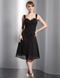 A-Line/Princess Sweetheart Knee-Length Chiffon Bridesmaid Dress With Ruffle (007014743)