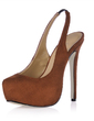 Suede Stiletto Heel Pumps Platform Closed Toe shoes (085017465)