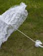 Compact Lace Wedding Umbrellas With Embroidery (124036963)