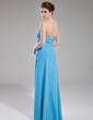 A-Line/Princess Sweetheart Floor-Length Chiffon Prom Dress With Ruffle Beading (018018920)