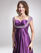 Empire Sweetheart Floor-Length Charmeuse Evening Dress With Ruffle Beading (017016872)