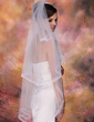 Two-tier Waltz Bridal Veils With Ribbon Edge (006003956)