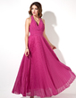 A-Line/Princess Halter Ankle-Length Chiffon Evening Dress With Pleated (017022526)