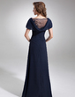 A-Line/Princess Cowl Neck Floor-Length Chiffon Mother of the Bride Dress With Ruffle Beading Sequins (008006061)