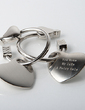 Personalized Heart Shaped Zinc Alloy Keychains (Set of 4) (051028901)