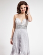 Empire Sweetheart Knee-Length Charmeuse Homecoming Dress With Beading Pleated (022004402)