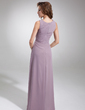 A-Line/Princess Scoop Neck Floor-Length Chiffon Mother of the Bride Dress With Ruffle Beading (008006217)