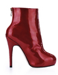 Patent Leather Stiletto Heel Platform Closed Toe Ankle Boots shoes (088017144)