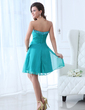 A-Line/Princess Sweetheart Knee-Length Chiffon Homecoming Dress With Ruffle Beading (022017351)