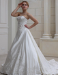 Balo Elbisesi Kalp Kesimli Royal Kuyruk Satin Gelinlik Ile Nakışlı Boncuklama (002004478)