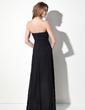 Sheath/Column Sweetheart Floor-Length Chiffon Evening Dress With Ruffle Beading (017016056)