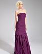Trumpet/Mermaid Strapless Floor-Length Chiffon Evening Dress With Ruffle (017019556)