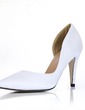 Silk Like Satin Stiletto Heel Pumps Closed Toe shoes (085017008)