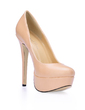Leatherette Stiletto Heel Pumps Platform Closed Toe shoes (085020585)