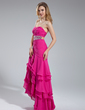 A-Line/Princess Sweetheart Asymmetrical Chiffon Prom Dress With Beading Sequins Cascading Ruffles (018019563)