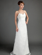 A-Line/Princess Sweetheart Floor-Length Lace Wedding Dress With Ruffle Beading (002015697)